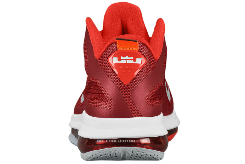 half off b35c3 6cfd1 Nike LeBron 9 Low Team Red Challenge Red Wolf Grey 510811-600 (3)