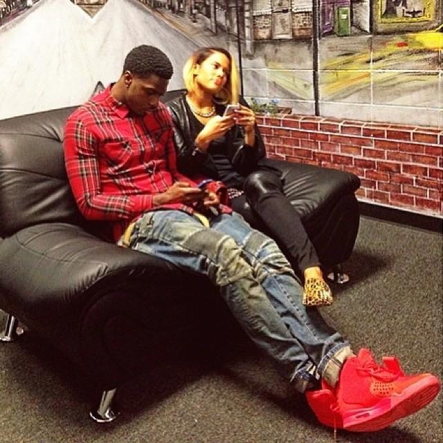 ... Jordan 6 Retro Doernbecher. AJ Green wearing Nike Air Yeezy II 2 Red October