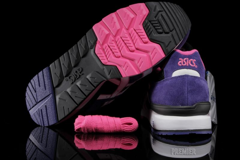 ASICS GT II black purple pink outsole