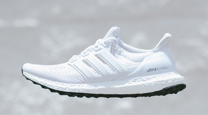 Adidas Ultra Boost White Black Sole
