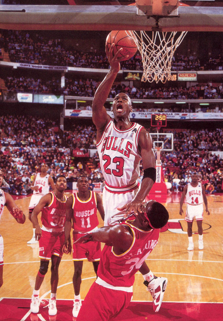 8ede6dd39dabf4 Flashback  Michael Jordan Wearing the  Carmine  Air Jordan 6