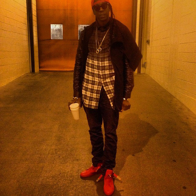 2 Chainz wearing Buscemi 100mm Red