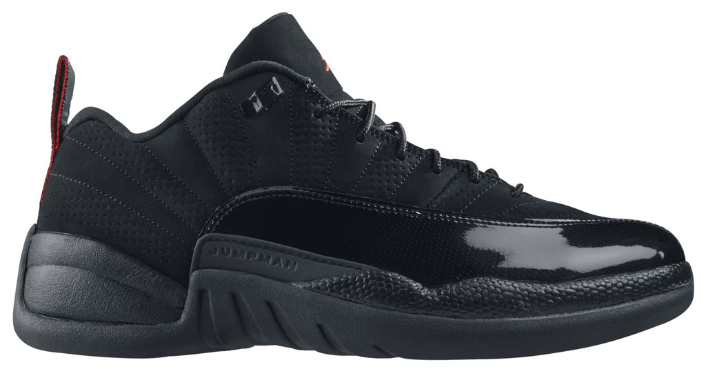 Air Jordan XII 12 Low Black/Varsity Red