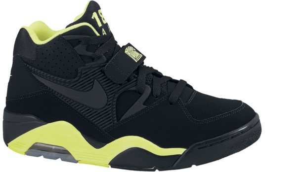 Nike Air Force 180 Black/Black-Volt