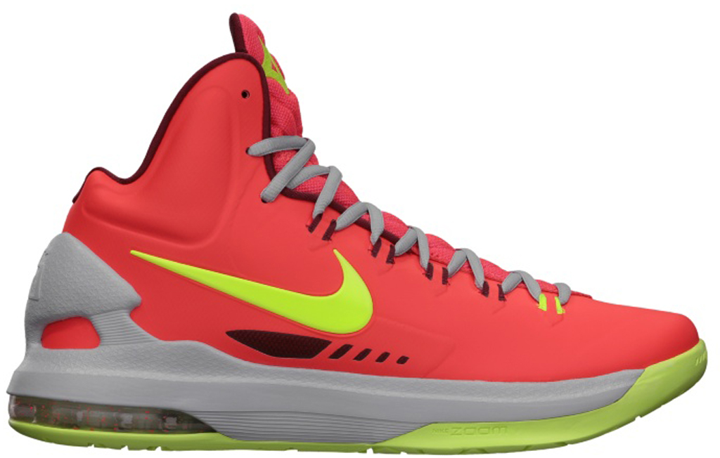 brand new fca31 f297c Nike KD V  DMV  554988-610 Bright Crimson White-Wolf Grey