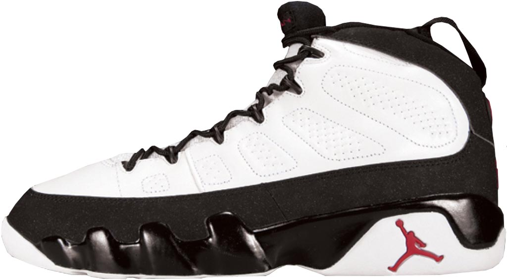 Air Jordan 9 White/Black-True Red. Years Released: 1994, 2002