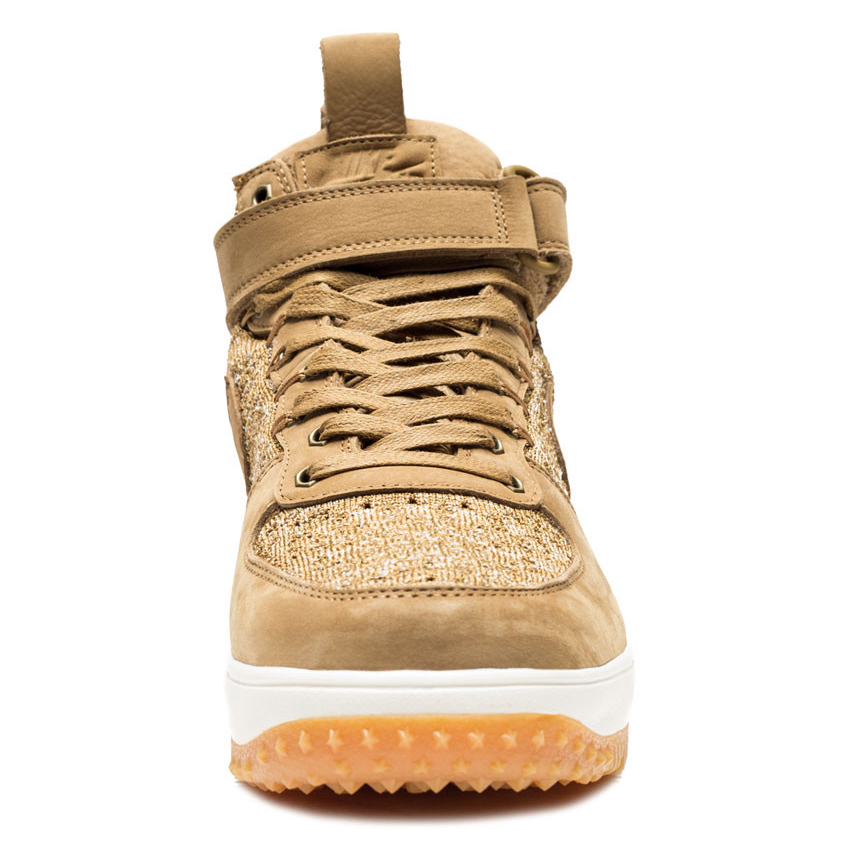 Wheat Nike Air Force 1 Boot Front