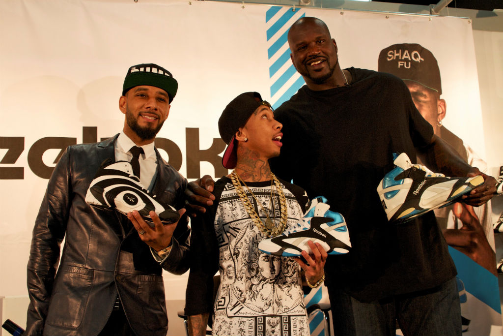 Shaq, Swizz Beatz & Tyga For Reebok Classics At Project (5)