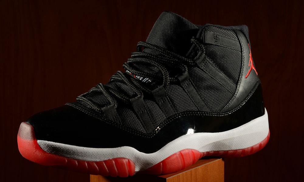 black and red air jordans
