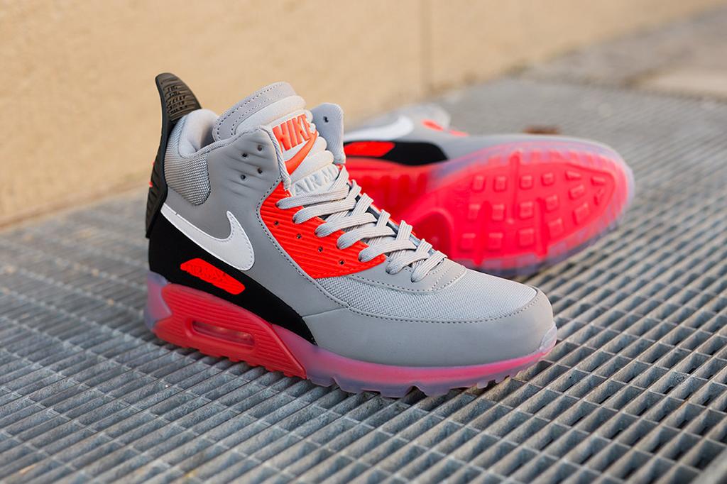 Nike Air Max 90 EM Wolf Grey Red Black