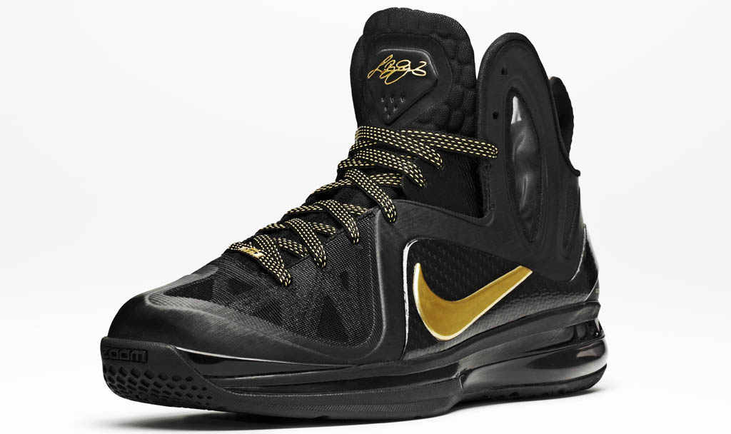best service 96e88 6931d Nike LeBron 9 Elite Away Black Metallic Gold 516958-002 (8) ...