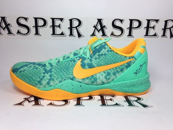 4e0dc915e6d8 The Green Glow Mineral Teal-Laser Orange Nike Kobe 8 is set to release  December 20th at authorized Nike Basketball accounts nationwide.