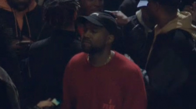 0ba772835 Crowd Chants  F    Nike  at Kanye West s Yeezy Season 3 Show