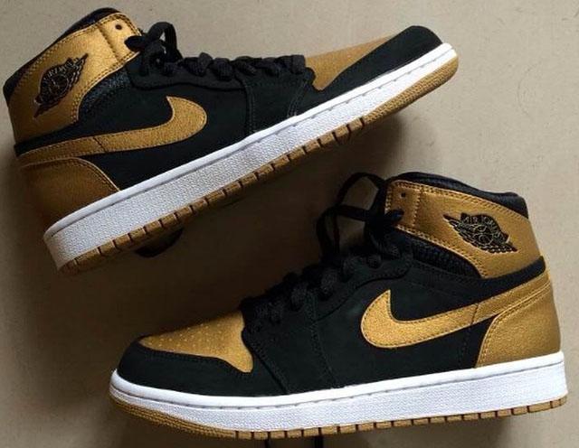 Air Jordan 1 Black And Gold Release Date