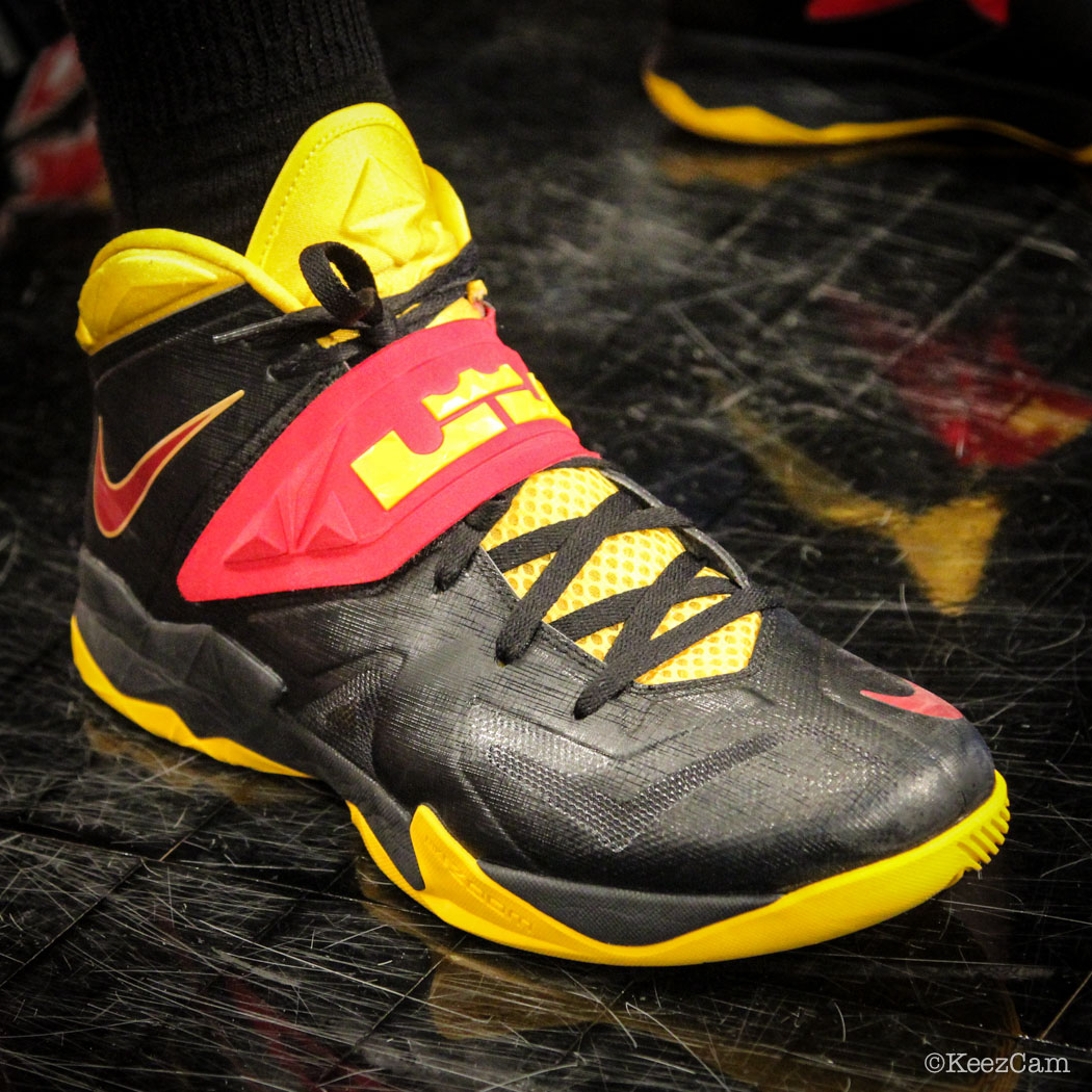Sole Watch // Up Close At Barclays for Nets vs Cavs - Tristan Thompson wearing Nike Zoom Soldier 7 PE