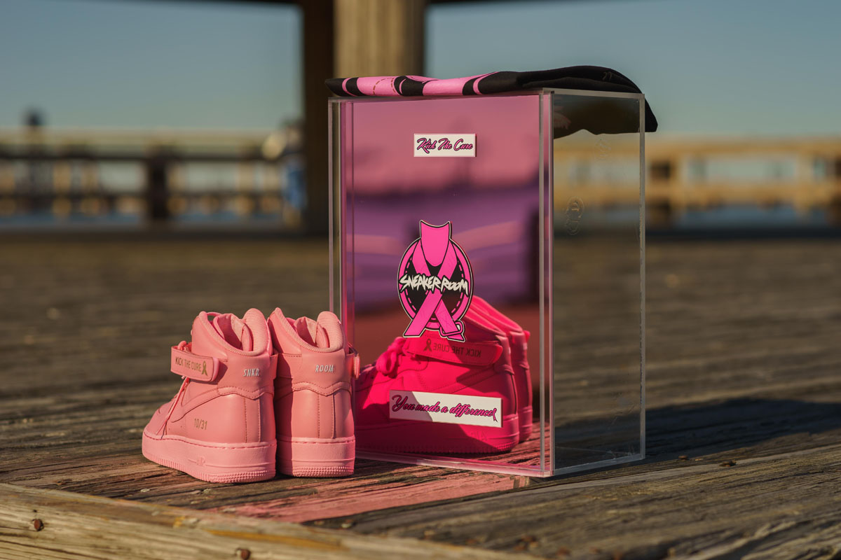 Sneaker Room x Nike Air Force 1 High Pink BCA (7)