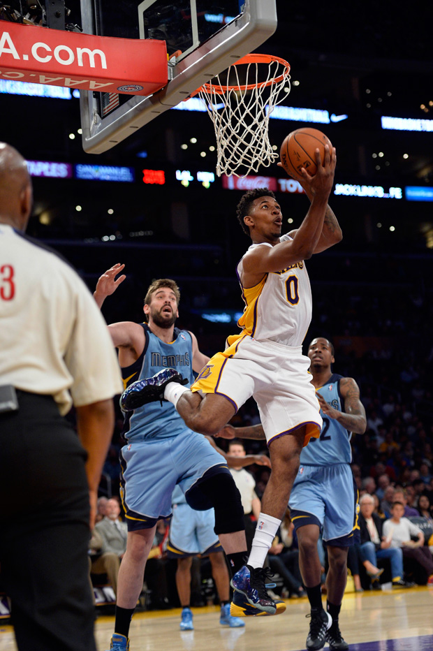 Nick Young Wears 'Galaxy' Nike Air Foamposite One