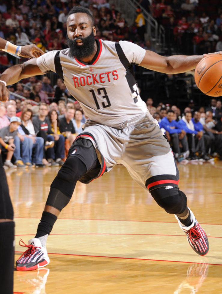 solewatch james harden wears a new adidas crazylight