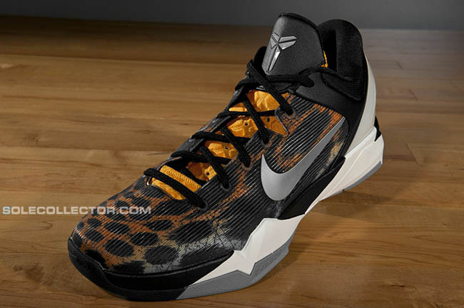 484c2f15c95 Nike Kobe VII Cheetah Orange Black Silver Grey 488371-800
