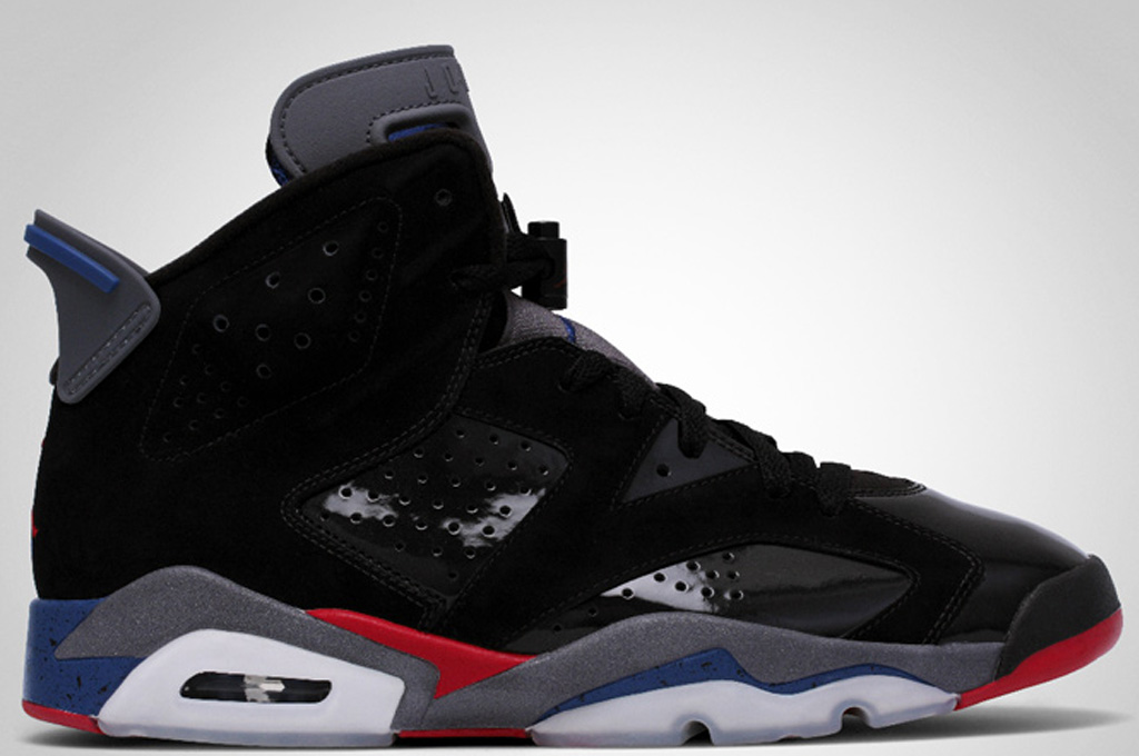 black and red jordan 6s