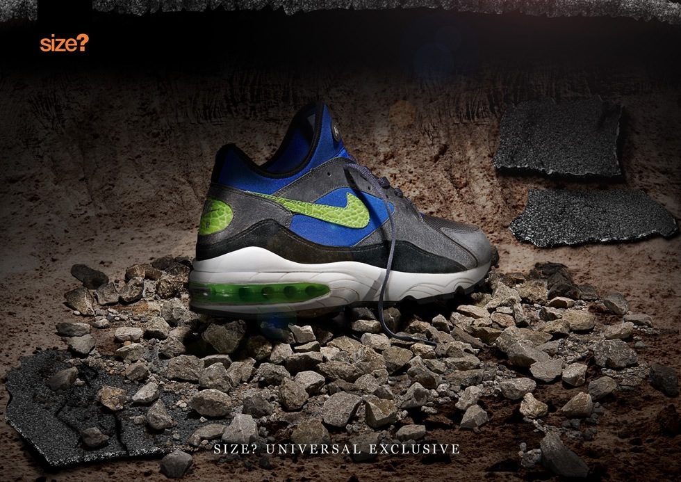 Nike Air Max 93 size universal exclusive dark grey lime
