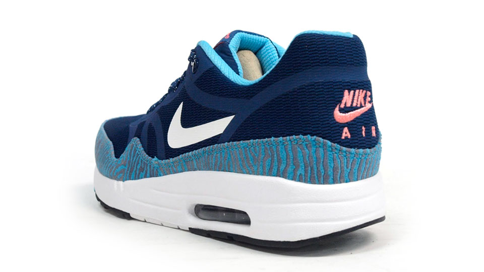 nike air max 1 premium tape zebra in brave blue heel