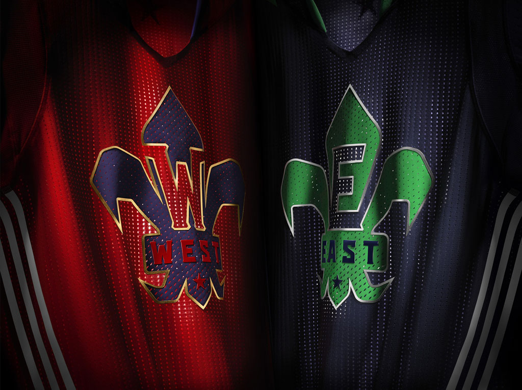 17cd5452255 Sleeved 2014 NBA All-Star Uniforms Inspired by New Orleans  Culture ...