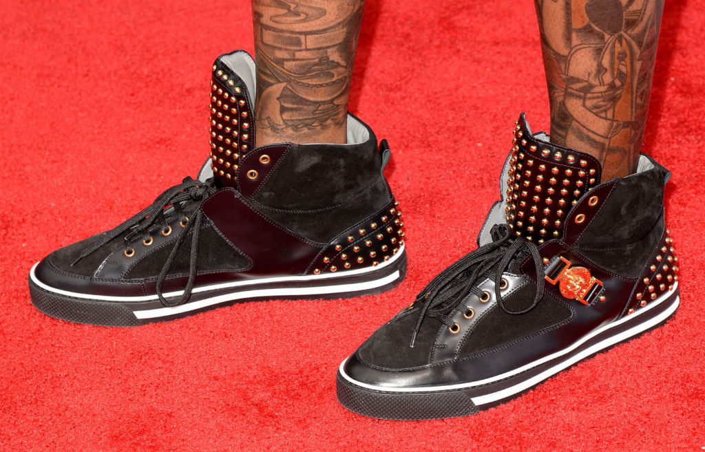 2 Chainz wearing Versace Studded High-Top Sneakers (2)