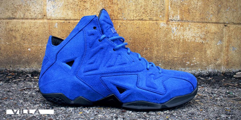 pretty nice 3097b 85e70 Nike LeBron XI 11 EXT Blue Suede (8)