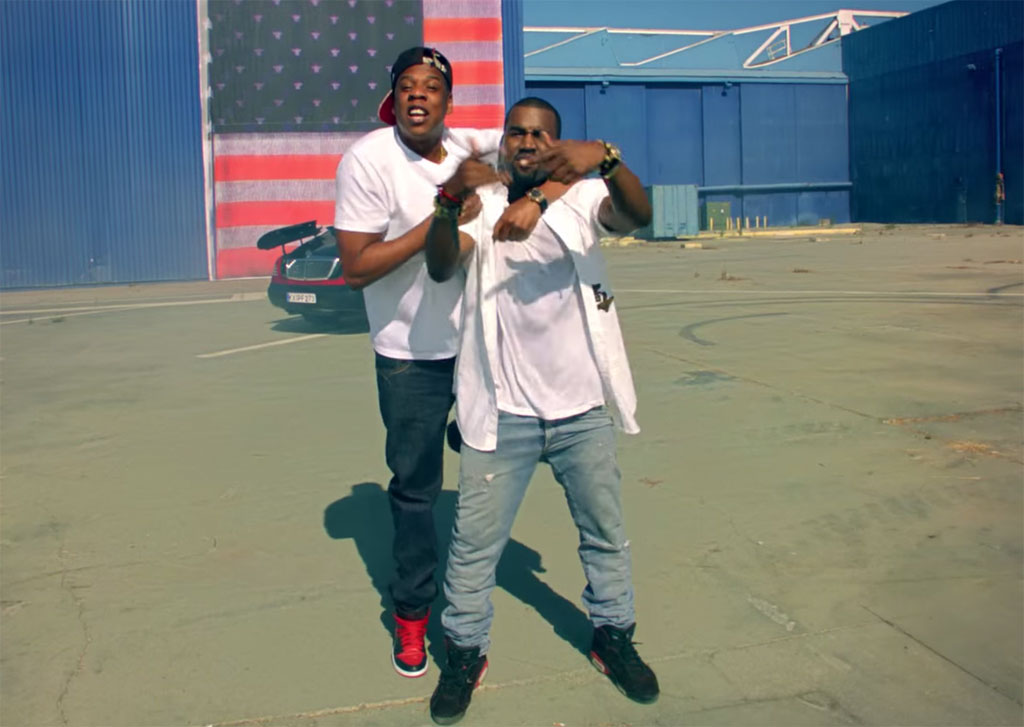 4b2987fbc3a95f Jay Z   Kanye West Otis Video featuring the  Bred  Air Jordan 1 and