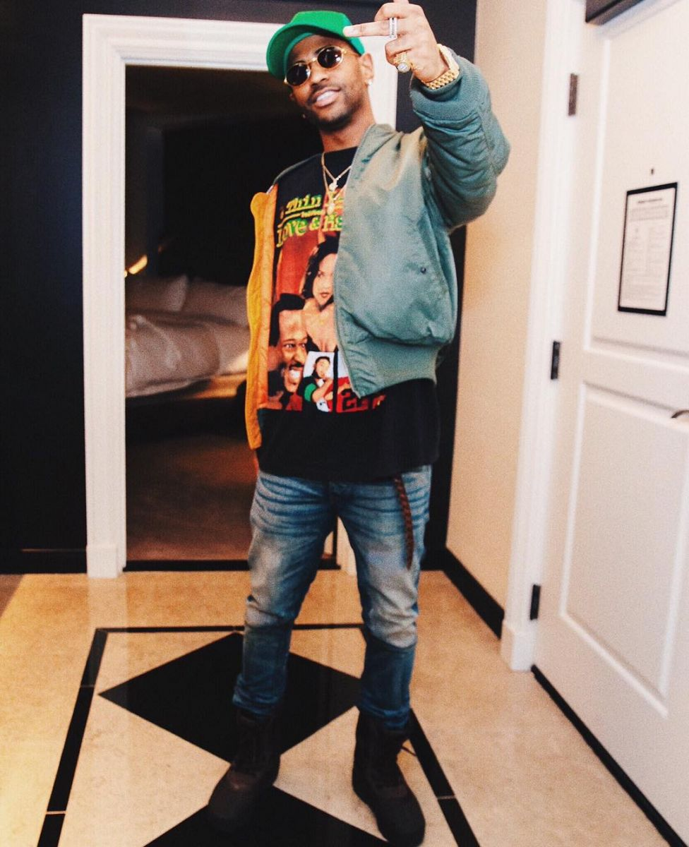 35234e342 Big Sean Wearing the  Pirate Black  adidas Yeezy 950