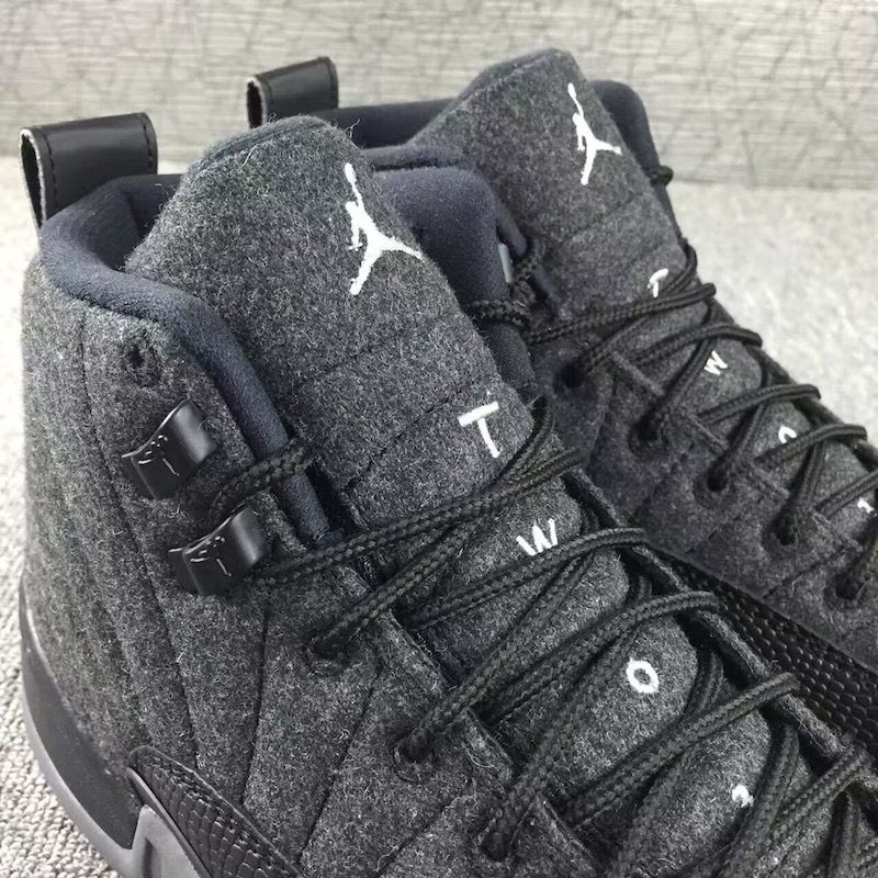 Wool Jordan 12 Detail