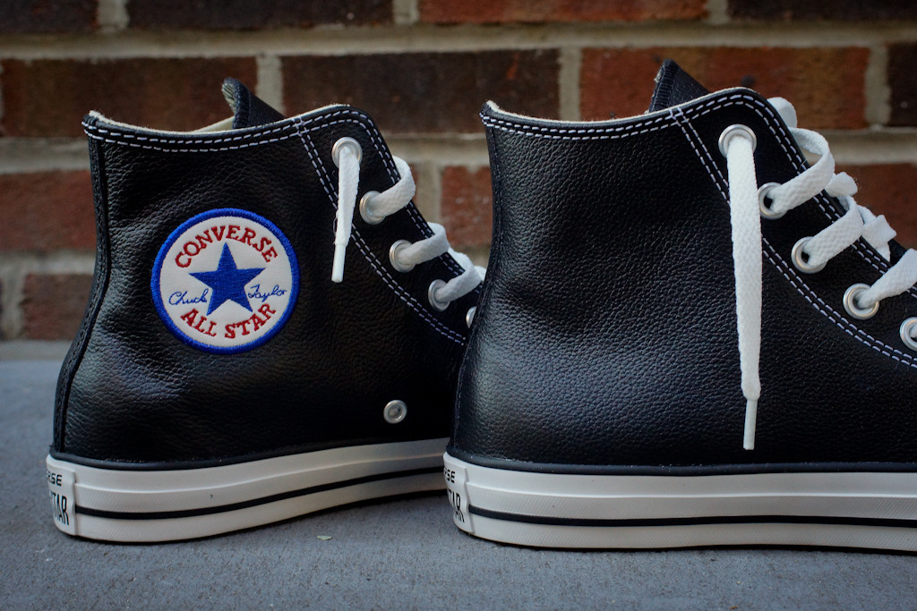 converse all star leather. converse chuck taylor all star hi - black leather