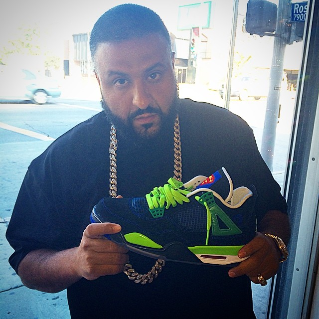 DJ Khaled Picks Up Air Jordan IV 4 Doernbecher
