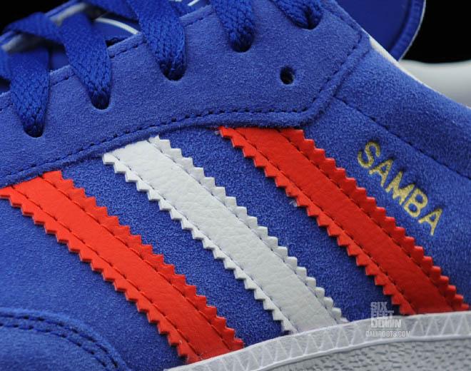 adidas Samba shoes white red blue