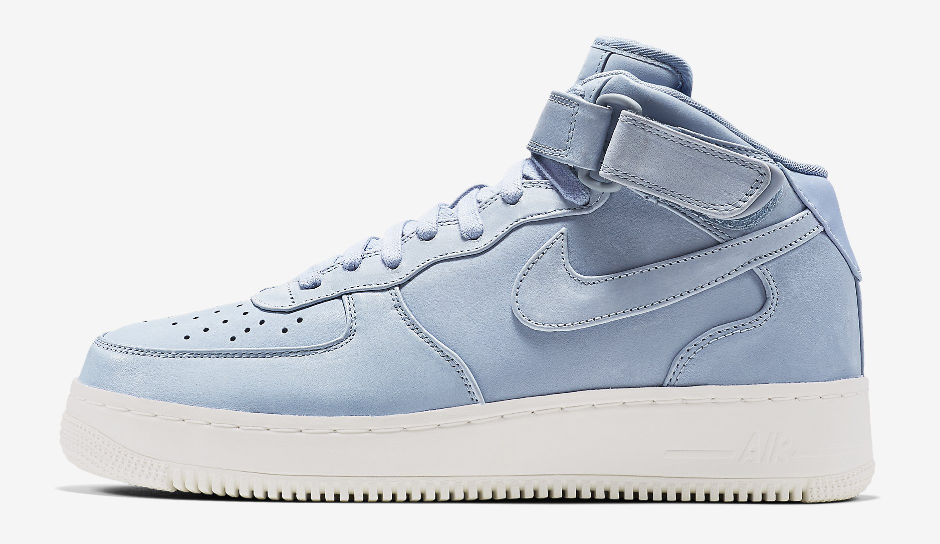 nike air force one mid grey blue