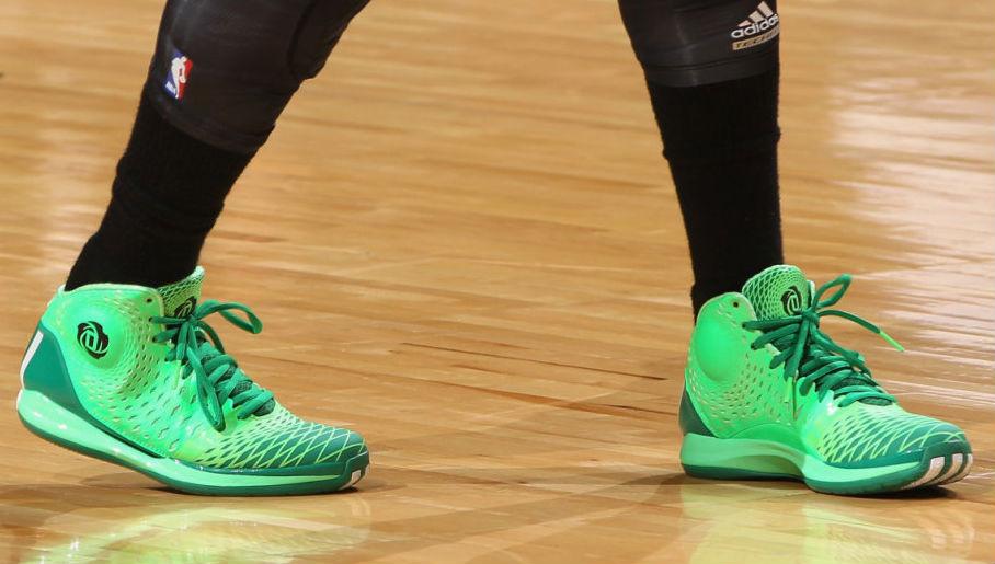 50ff7b10e03 Derrick Rose wearing adidas Rose 3.5 St. Patrick s Day (3)
