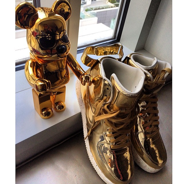 Trinidad James Picks Up Nike Lunar Force 1 Liquid Gold