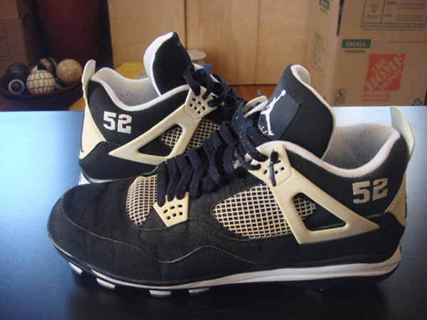 C.C. Sabathia Air Jordan 4 Yankees Black/Pitch Blue PE Cleats (2009)