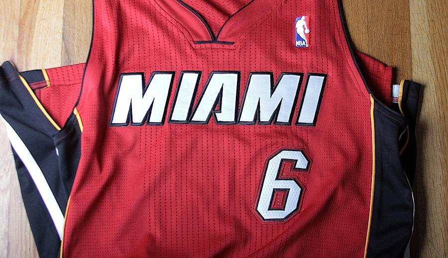 new style bb983 22002 Jersey Spotlight // LeBron James Miami Heat REV30 | Sole ...