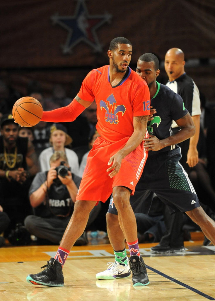 sports shoes 8c385 08443 LaMarcus Aldridge wearing Nike Air Max Hyperposite All-Star
