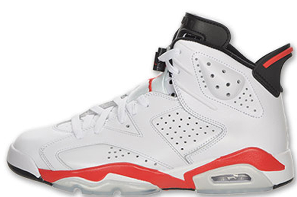 Air Jordan 6 Retro  Style Code: 384664103  Colorway: White/WhiteInfrared