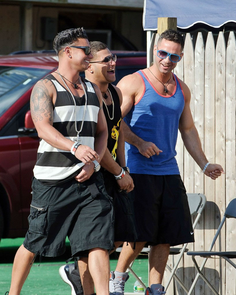 Ronnie Ortiz-Magro wearing Air Jordan XI 11 Space Jam
