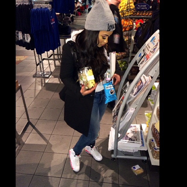 Tahiry Jose wearing Air Jordan 6 Retro White/Infrared