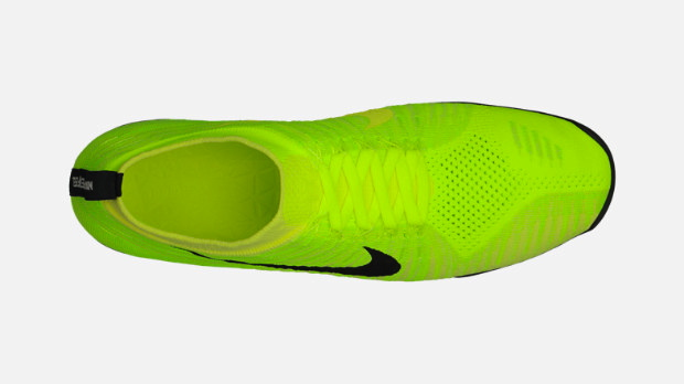 Nike Free Hyperfeel in Volt Black Electric Yellow and Electric Green top view