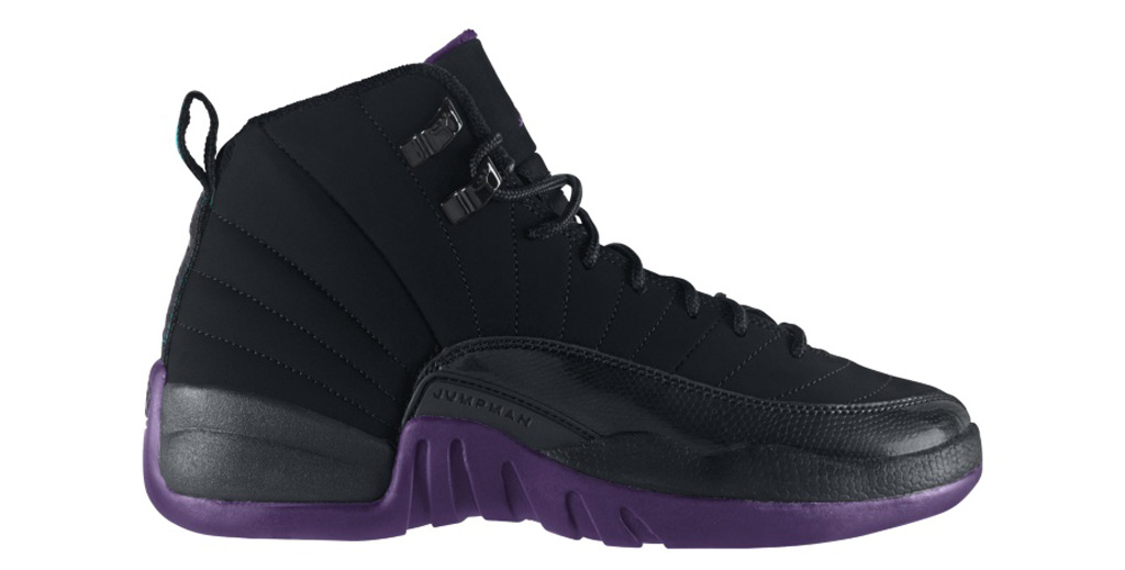 air jordan retro 12 purple black
