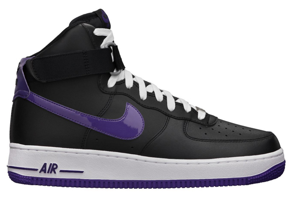 low priced 1effc bbfaa Nike Air Force 1 High - Black/Club Purple | Sole Collector