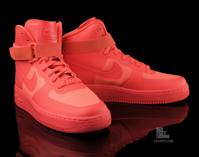 nike air force 1 high hyperfuse solar red new images. Black Bedroom Furniture Sets. Home Design Ideas
