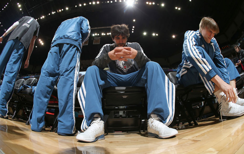 Ricky Rubio & Andrei Kirilenko wearing adidas Crazy Light 2