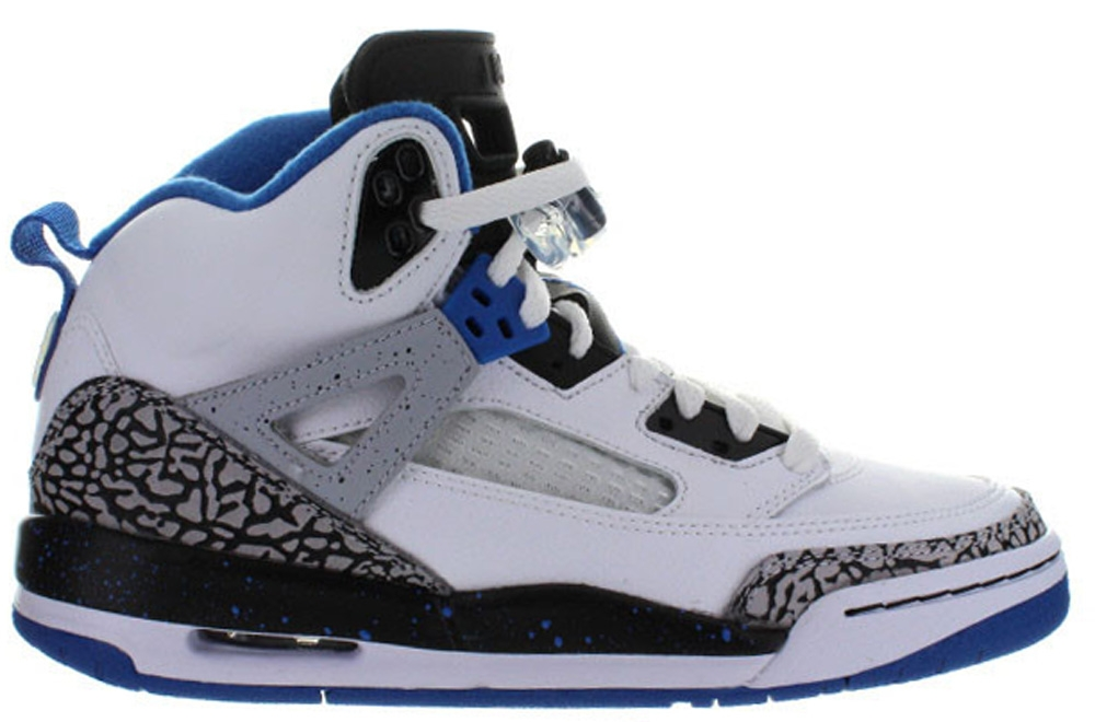 Jordan Spiz'ike GS White/Sport Blue-Black-Wolf Grey